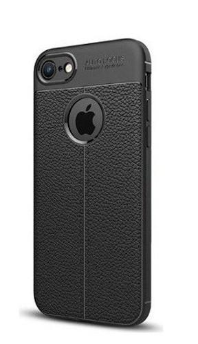 قاب ایفون 7 یا ایفون 8 ژله ای طرح چرم رنگ مشکی ایفون Auto Focus Jelly Case Apple iphone7 /Iphone 8