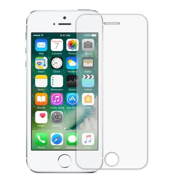 گلس بی رنگ و شفاف یا محافظ صفحه نمایش شیشه ای آیفون Glass Screen Protector Apple iPhone 5/5C/5S/SE