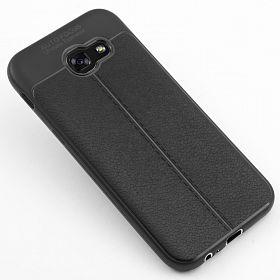 قاب محافظ ژله ای طرح چرم Samsung Galaxy A520/A5 2017