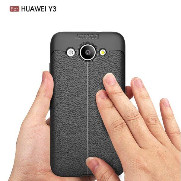قاب محافظ بدنه گوشی هوآوی Huawei y3 2017 طرح چرم Autofocus