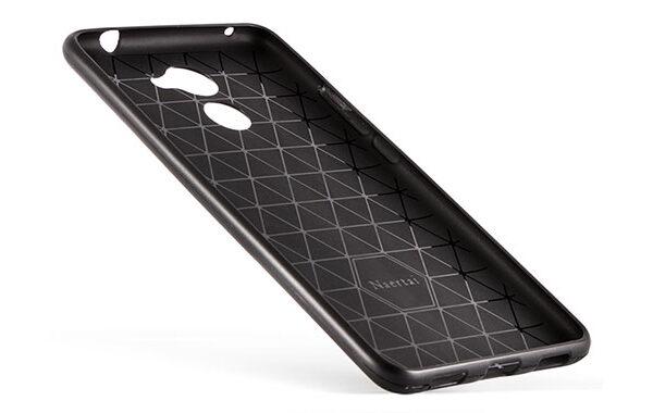 قاب ژله ای طرح چرم رنگ مشکی هواوی enjoy 7 plus Huawei Y7 Prime