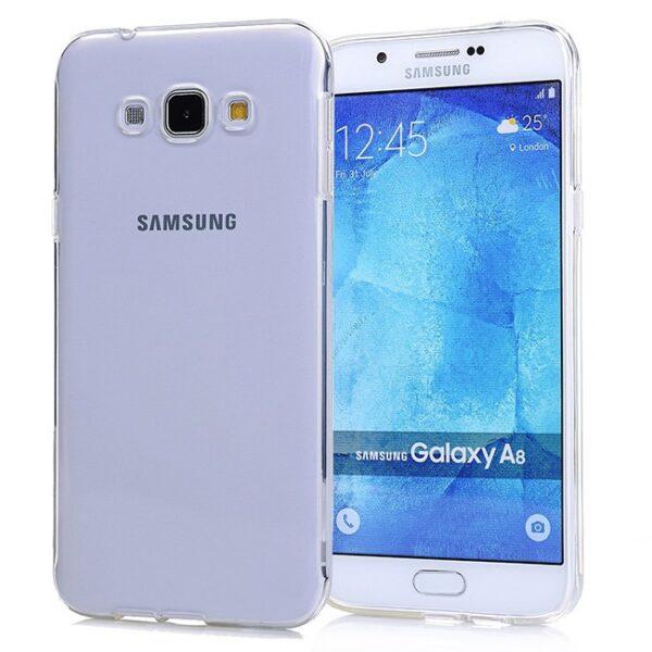کاور ژله ای شفاف مناسب برای گوشی موبایل سامسونگ گلکسی A8 / A800