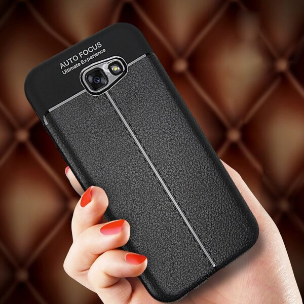 قاب ژله ای طرح چرم سامسونگ Auto Focus Jelly Case Samsung Galaxy A3 2017