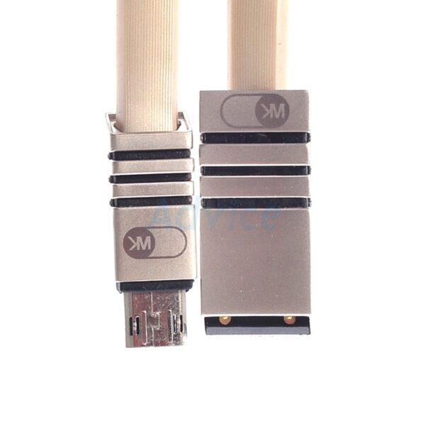 کابل شارژ میکرو و انتقال فایل مناسب سامسونگ یا هواوی وسایر مدل اندروید دبلیو کی WK  blaze WDC-006