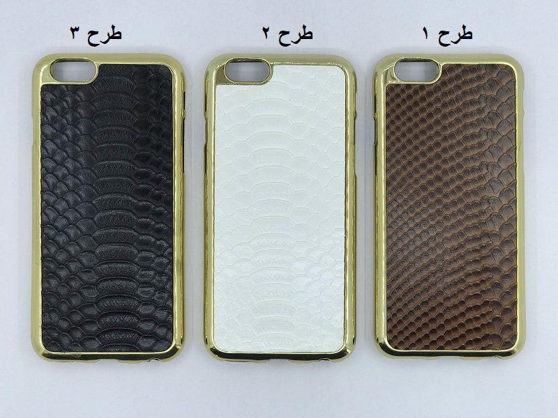 قاب موبایل لاکچری جدید Case For Apple Iphone 6 /6S رنگ سفید قهوه ای و مشکی طرح پوست ماری