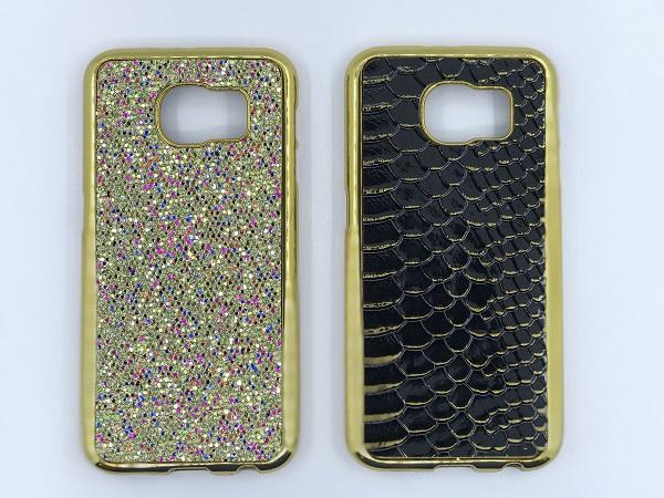 قاب گوشی موبایل اس 6 طرح لاکچری طلایی طرح پوست ماری مناسب برای سامسونگ Samsung S6
