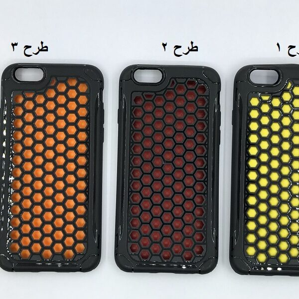 قاب محکم برای اپل 6 مناسب ایفون apple iphone 6s / 6g طرح زنبوری رنگی