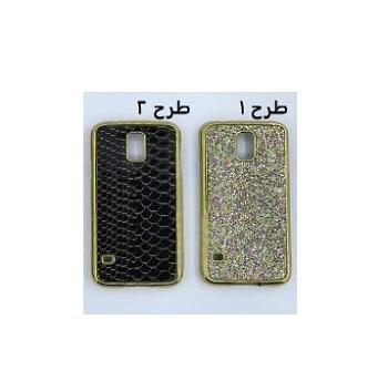 قاب گوشی موبایل اس 5 طرح لاکچری طلایی طرح پوست ماری مناسب برای سامسونگ Samsung S5