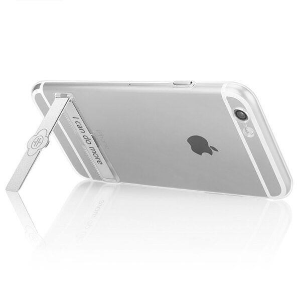 قاب ژله ای شفاف Totu Metal Holder بی رنگ اپل آیفون 6/6s اصلی