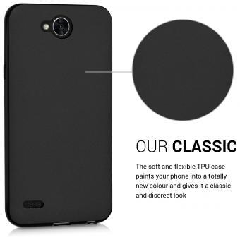 کاور ژله ای مشکی برای گوشی موبایل ال جی ایکس پاور 2 قاب LG X power2 case بک کاور cover Xpower 2