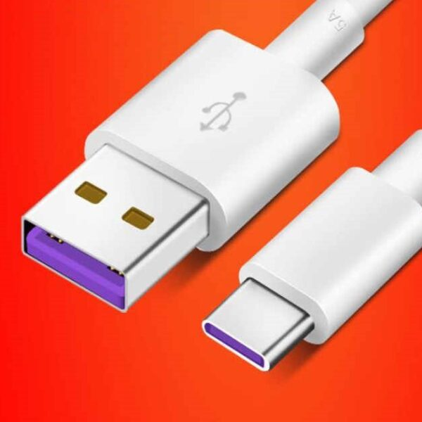 کابل Type C کوتاه سامسونگ ،هواوی و گوشی های سوکت تایپ سی مناسب پاوربانک طول 23 سانتی متر Best Type-C Charge Data Transfer 23cm