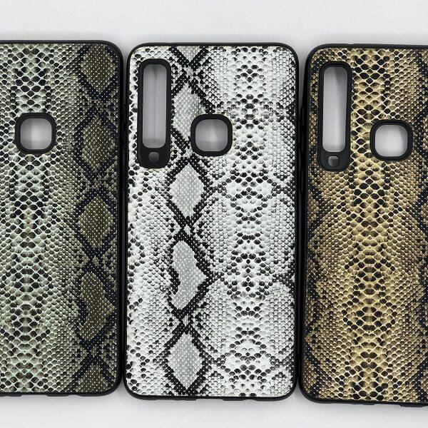 کاور قاب محافظ لاکچری سامسونگ ا 9 2018 طرح پوست ماری Snake Skin Leather Case For Samsung A920 Galaxy A9 2018