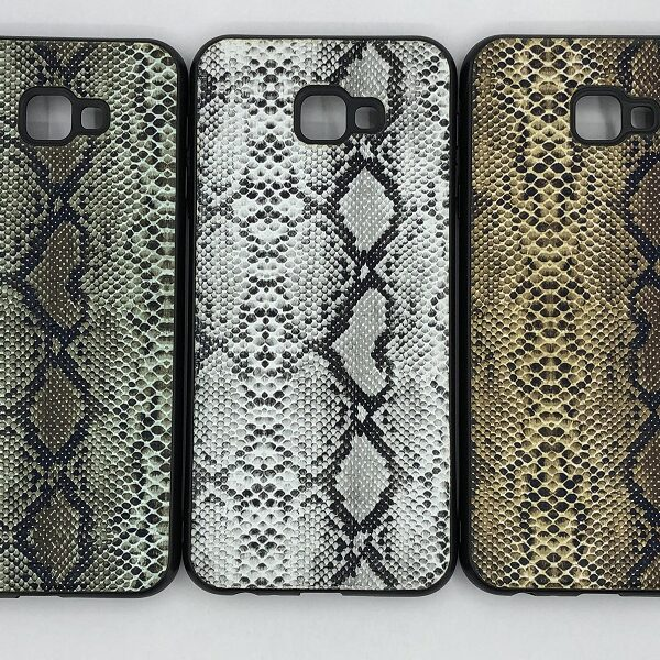کاور قاب J415محافظ لاکچری سامسونگ جی 4 کور طرح پوست ماری مناسب Snake Skin Leather Case For Samsung J410 Galaxy j4 plus