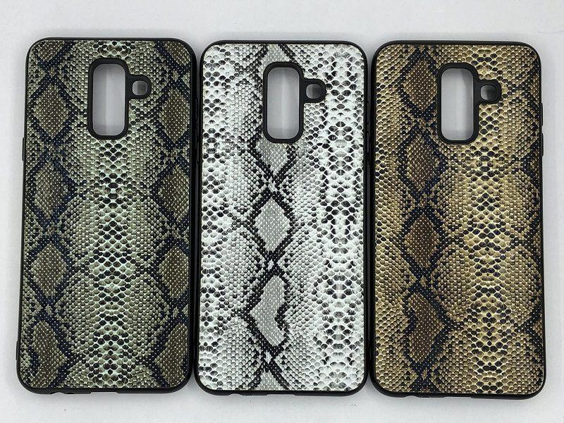 کاور قاب محافظ لاکچری سامسونگ ای 6 پلاس طرح پوست ماری Snake Skin Leather Case For Samsung a610 Galaxy A6 plus