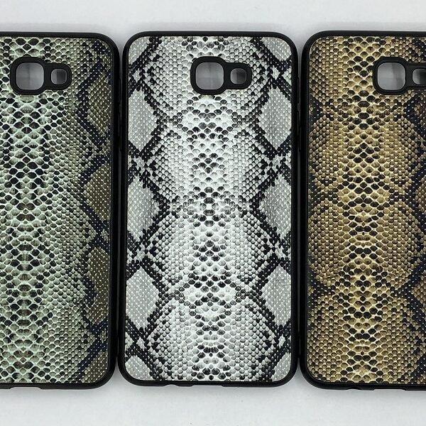 کاور قاب آن 5 2016 محافظ لاکچری سامسونگ جی 5 پرایم طرح پوست ماری مناسب Snake Skin Leather Case For On5 2016 SM-G5520 Samsung J570 Galaxy j5 prime