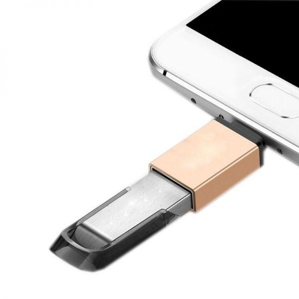 مبدل تایپ سی به یو اس بی  Hiska OTG Type-C to USB