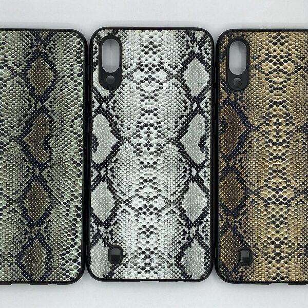 کاور قاب ام 10 محافظ لاکچری سامسونگ m10 طرح پوست ماری مناسب Snake Skin Leather Case For Samsung Galaxy M 10