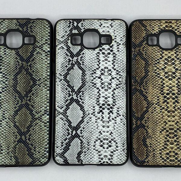 کاور قاب گرند پرایم پلاس محافظ لاکچری سامسونگ جی 532 طرح پوست ماری مناسب Snake Skin Leather Case For G530 SM-G532F/DS Samsung J2 prime Galaxy Grand prime plus