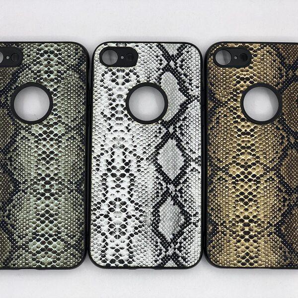 کاور قاب ایفون 8 و 7 محافظ لاکچری اپل 7و8 طرح پوست ماری مناسب Snake Skin Leather Case For Apple 7/8 Iphone 8/7G