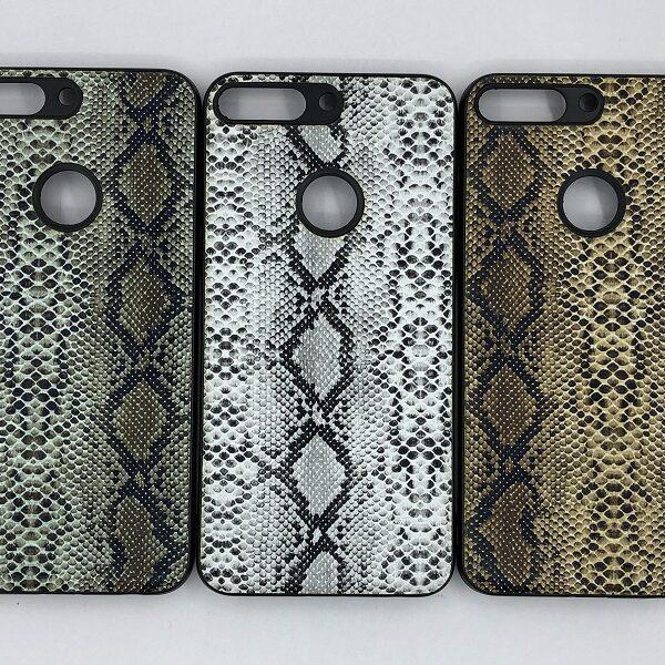 کاور قاب هواوی وای 7 پرایم 2018 محافظ لاکچری هواوی نوا 2 لایت طرح پوست ماری مناسب  Snake Skin Leather Case For Huawei Y7 prime 2018 nova 2 lite