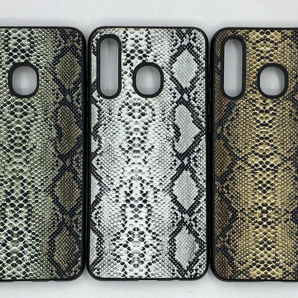 کاور قاب ا30 محافظ لاکچری سامسونگ ا 30 گلکسی ای 20 طرح پوست ماری مناسب گوشی  Snake Skin Leather Case For Samsung A20 Galaxy A30