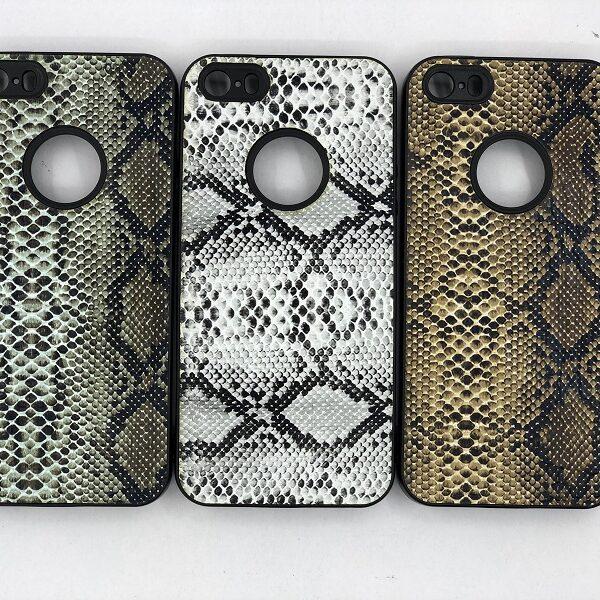 کاور قاب ایفون 5 اس محافظ لاکچری اپل اس ای طرح پوست ماری مناسب Snake Skin Leather Case For Apple Iphone5/5s/Se