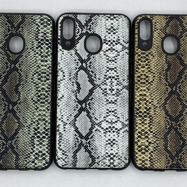 کاور قاب ام 20 محافظ لاکچری سامسونگ m20 طرح پوست ماری مناسب Snake Skin Leather Case For Samsung Galaxy M 20