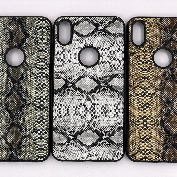 کاور قاب ایفون Xs max محافظ لاکچری اپل ایکس اس مکس طرح پوست ماری مناسب Snake Skin Leather Case For Apple Xs Max 10 Iphone 10s Max