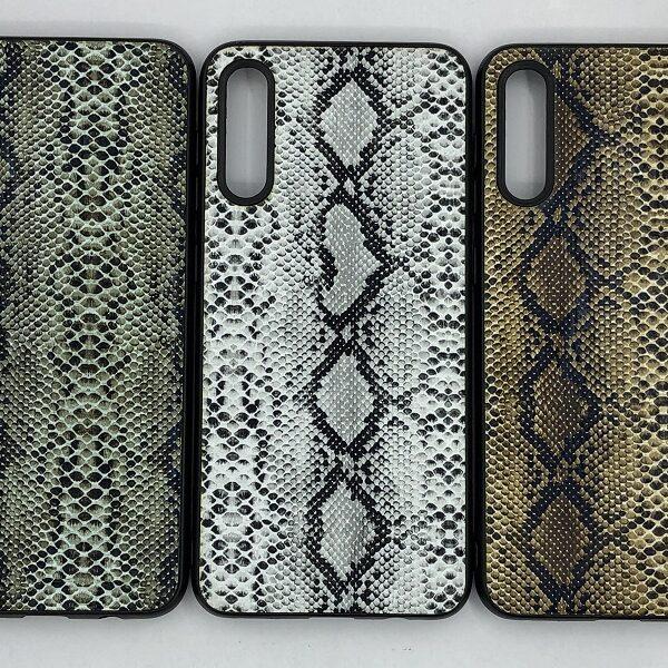قاب گوشی A30s کاور قاب ا50 محافظ لاکچری سامسونگ ا 50 طرح پوست ماری مناسب Snake Skin Leather Case For Samsung A30 S Galaxy A50s/ A30S / A50