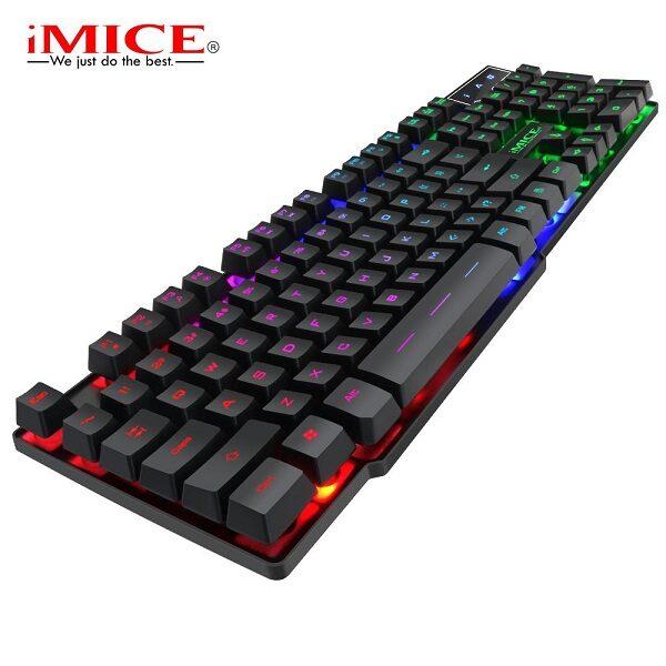 کیبورد مخصوص بازی مناسب گیم مدل جدید Ak600 برند اصلی آیمایس کیبورد گیمینگ Gaming Keyboard iMICE AK-600 New FOR GAME
