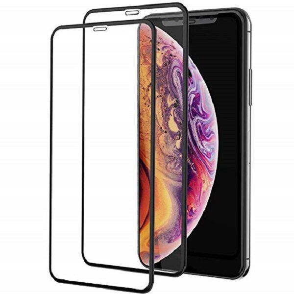 گلس ایفون 11 پرو مکس و اپل ایکس اس مکس محافظ صفحه نمایش شیشه ای 6.5 اینچی مناسب آیفون ایکس اس مکس و ایفون یازده پرو مکس  full Cover Glass Apple 6.5 inch iPhone xs max /iphone 11 pro max