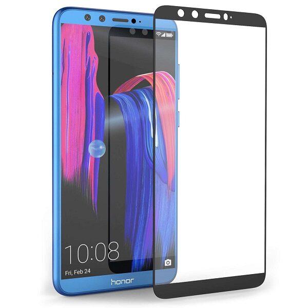 محافظ صفحه نمایش تمام چسپ گلس فول هواوی هانر9 لایت Full Gllass Screen For Huawei honor 9 lite 2019