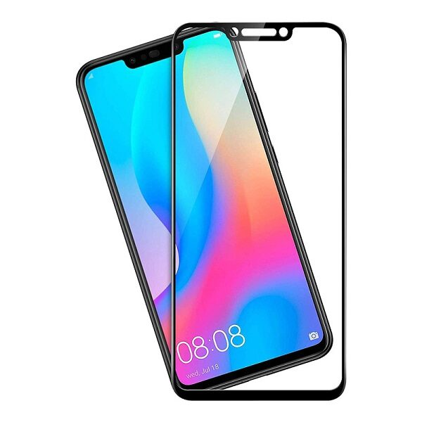 محافظ صفحه نمایش تمام چسپ گلس فول هواوی نوا 3 آی/پی اسمارت پلاسFull Glass Screen For Huawei nova 3i / P Smart plus2019