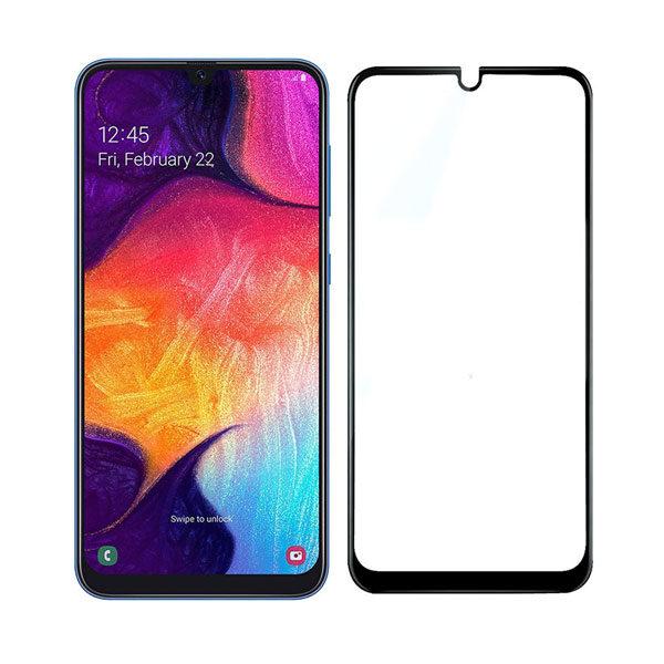 گلس A50 مناسب سامسونگ A 20 ،A 30 ، A 50 ،A 30S،A50 Sمحافظ صفحه نمایش شیشه ای تمام چسب گلس سامسونگ Full Glue Glass Samsung Galaxy A30S/A50S/ A20/A30/A50