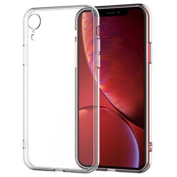 قاب محافظ شیشه ای ژله ای ساده و معمولی – کاور شفاف بی رنگ آیفون ایکس آر اپل Crystal Clear Case for apple iPhone Xr