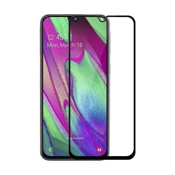 محافظ صفحه نمایش شیشه ای تمام چسب گلس سامسونگ آ Full Glue Glass Samsung GalaxyA 40