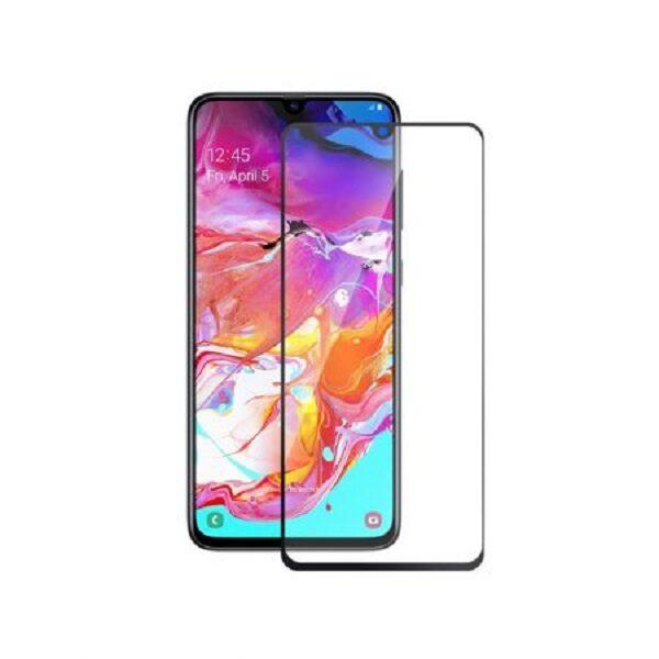 گلس گوشی سامسونگ A70S و A70 محافظ صفحه نمایش شیشه ای ای 70 اس تمام چسب گلس سامسونگ آ Full Glue Glass Samsung A70 S Galaxy A 70