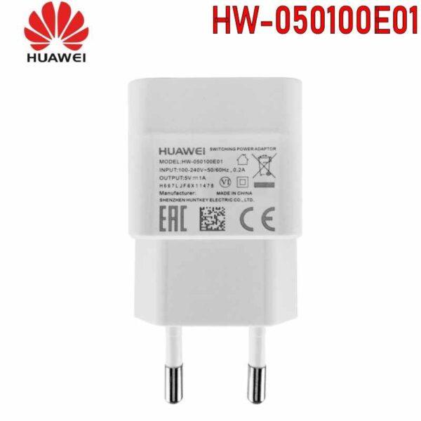 کلگی شارژر دیواری هوآوی 100 درصد اورجینال شارژر اصلی هواوی سرجعبه Huawei Wall Charger HW-050100E01 با جریان خروجی 1.0 آمپر