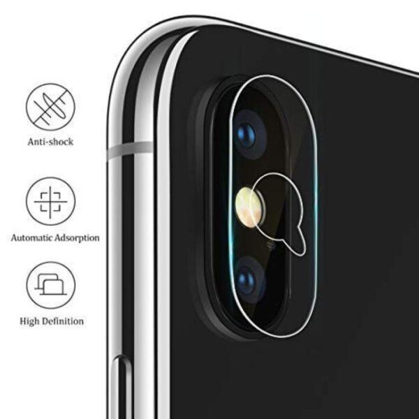 محافظ لنز دوربین ایفون 10گلس شیشه ای دوربین موبایل اپل ایکس اس گلس لنز دوربین آیفون X و XS مناسب Glass camera screen protector for Apple iPhone X / XS