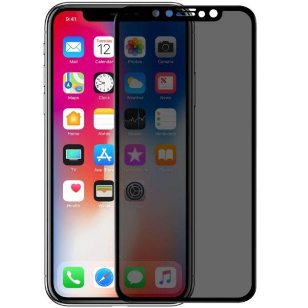 گلس ایفون ایکس اس مکس پرایوسی حریم شخصی اپل 11 پرو مکس محافظ صفحه نمایش شیشه ای حریم خصوصی ایفون 11 پرو مکس Privacy Glass for Apple iphone xs max/11 Pro max