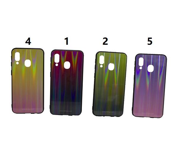 کاور رنگی گوشی موبایل ای 40 سامسونگ گلکسی آ 40 محافظ قاب سامسونگ A40 مدل لیزری گوشی Tempered Glass Laser Case Samsung SM-A405FN/DS Galaxy A40