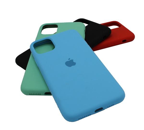 کاور قاب سیلیکونی آیفون 11 پرو مکس کامل زیر بسته گارد محافظ اپل یازده پرو مکس کیس رنگی ایفون 11 پرو مکس 6.5 اینچ پایین بسته قاب اصلی سیلیکون فول گوشی ایفون پرو مکس 11 Apple iPhone 11 pro max 6.5 inch Silicone Case Iphone pro max
