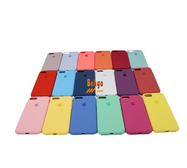کاور قاب سیلیکونی آیفون 7 یا ایفون 8 گارد محافظ اپل هشت کیس رنگی ایفون هفت قاب اصلی ایفون7/8 سیلیکونی ایفون 8 کامل زیر بسته فول گارد گوشی ایفون 7 Apple IPhone 8 Silicone Case IPhone