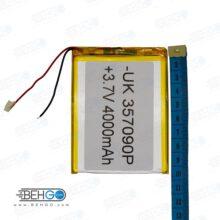 باتری تبلت چینی 4000 میلی آمپر سایز بزرگ china tablet 4000mah high quality battery