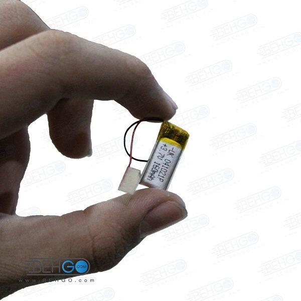 باتری هدفون بلوتوث لیتیومی تک سل 3.7V 160mAh دارای برد محافظ باطری کیفیت بالا 041021p 3.7v 160mah high quality battery