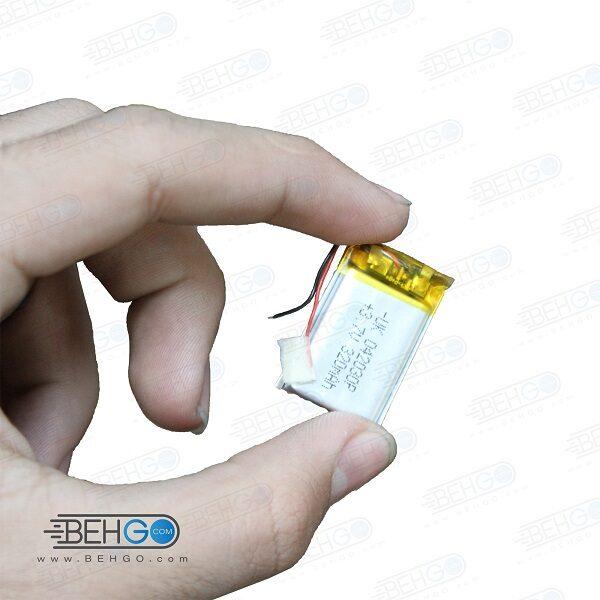 باتری هدفون بلوتوث لیتیومی تک سل 3.7V 320mAh دارای برد محافظ کیفیت بالا 042030p 3.7v 320mah high quality battery
