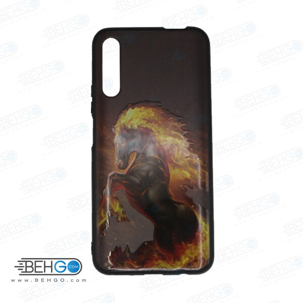 قاب Y9S کاور هواوی Y9S قاب فانتزی گوشی هواوی وای 9 اس با عکس اسب آتشی طرح 2 محافظ مناسب وای نه اس گوشی موبایل هواوی New Horse Phone Case For Huawei Y9S 2019