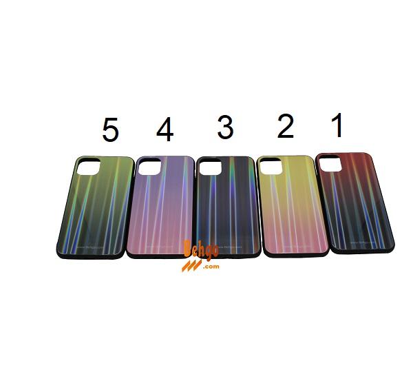 کاور آیفون 11 اپل / Apple iPhone 11 لیزری رنگی محافظ قاب آیفون 11 اپل / Apple iPhone 11 مدل لیزری گوشی Tempered Glass Laser Case apple iphone 11