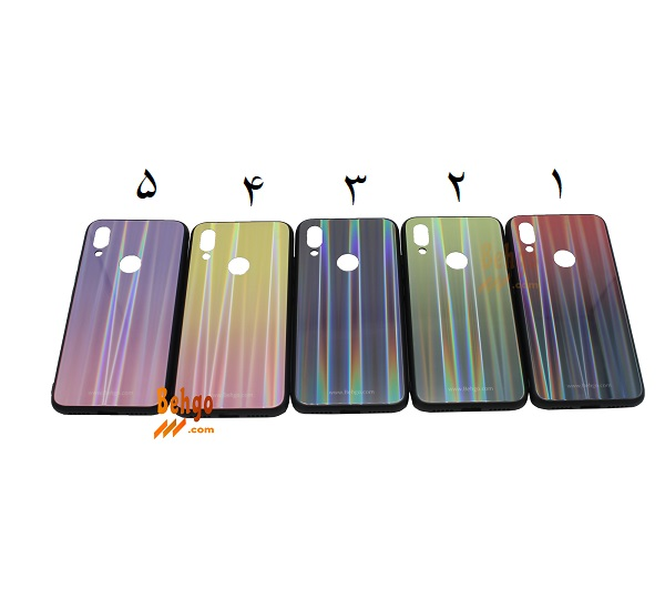 قاب ردمی 7 شیائومی Xiaomi Redmi 7 لیزری رنگی محافظ شیاومی ردمی هفت قاب ردمی7 شیائومی Xiaomi Redmi7 مدل لیزری کاور گوشی Tempered Glass Laser Case Xiaomi Redmi 7