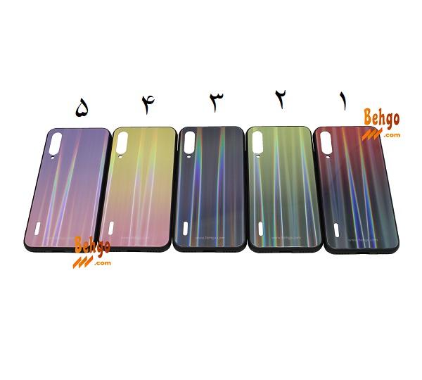 کاور می ای 3 شیائومی Xiaomi Mi A3 لیزری رنگی محافظ قاب می ای 3 شیائومیXiaomi MiA3 مدل لیزری گوشی Tempered Glass Laser Case Xiaomi Mi A3